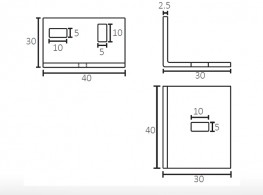 6004 | Adjustable support for sliding door track 30 mm