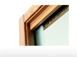 Wooden frame for sliding doors