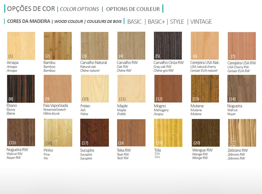 Colores gama BASIC
