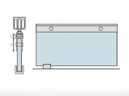 8002 | Continuous clamping profile for glass door