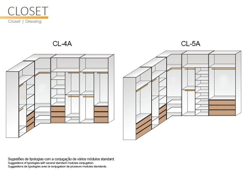 GS CONCEPT Closets  - models