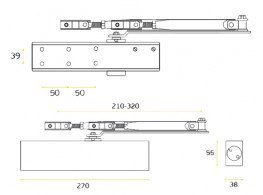Door closer - 21.760BS