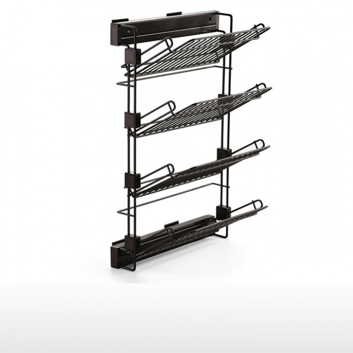 Side pull-out shoe rack