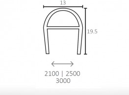 MOD. A | Adjustable rubber seal for glass door